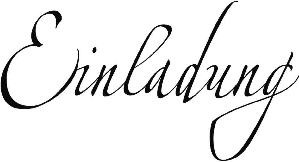 Geburtstag Rayher Hobby 28470000 Butterer Holzstempel Einladung 4 x 7 cm Taufe Kommunion Party Stempel mit Schriftzug f/ür Einladungskarten bei Hochzeit