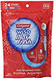 Max Fresh Wisp Disposable Mini Toothbrush, Peppermint - 24 Count