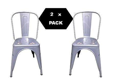 F t sedia in metallo design industriale tipo tòlix confezione