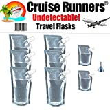 CRUISE RUNNERS Brand Ship Kit Flask 8 Pack Sneak Alcohol Runner Rum Liquor Smuggle Booze Gift (6x32 oz. + 2x8oz.)
