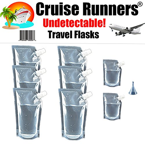 CRUISE RUNNERS Brand Ship Kit Flask 8 Pack Sneak Alcohol Runner Rum Liquor Smuggle Booze Gift (6x32 oz. + 2x8oz.) - Pant Solid Football Game