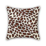 NICEPLW throw pillow covers of leopard 20 x 20 inches / 50 by 50 cm,best fit for home theater,coffee house,kids boys,seat,kids double sides