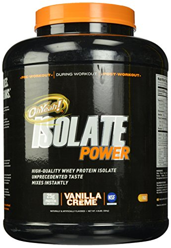 ISS Research OhYeah Isolate Power, Vanilla Creme, 4 Pound