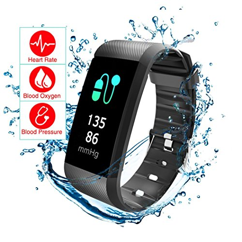 Fitness Tracker Blood Pressure Heart Rate Sleep Monitor READ R11 Pedometer Calorie Counter Activity Tracker IP67 Waterproof Call SMS SNS Remind Watch for Android IOS