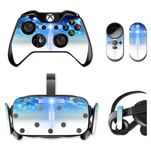 MightySkins Protective Vinyl Skin Decal for Oculus Rift CV1 wrap Cover Sticker Skins Cross from MightySkins