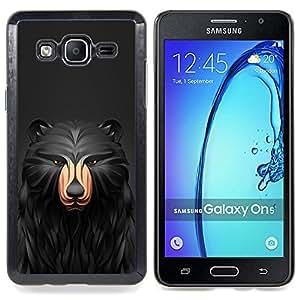 """Qstar Arte & diseño plástico duro Fundas Cover Cubre Hard Case Cover para Samsung Galaxy On5 O5 (Negro Patrón Oso"""")"""