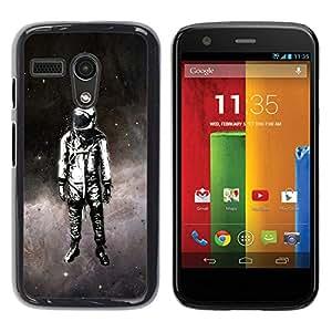 Be Good Phone Accessory // Dura Cáscara cubierta Protectora Caso Carcasa Funda de Protección para Motorola Moto G 1 1ST Gen I X1032 // Space Suit Travel Man Astronaut Stars Art Paint