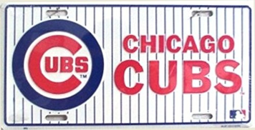 Chicago Cubs Pinstripe License Plate