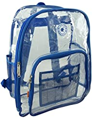 Heavy Duty Clear Backpack See Through Student Bookbag Transparent Workbag Stadium Security Daypack