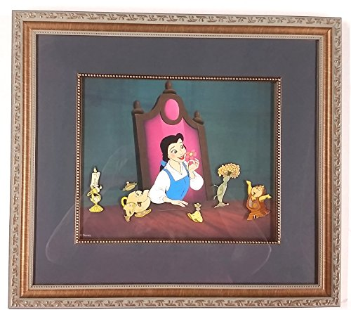 Beauty And The Beast Collectibles >> Beauty And The Beast Framed Pin Set 6 Pins Le With Belle At Amazon S