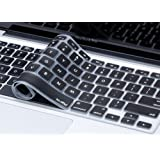 """Kuzy - BLACK Keyboard Cover Silicone Skin for MacBook Pro 13"""" 15"""" 17"""" Aluminum Unibody (with or w/out Retina Display) iMac and MacBook Air - Black"""