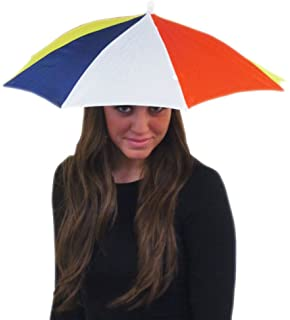 Umbrella Hat - Fishing Umbrella Hat for Kids and Adults - Elastic, Rainbow Colors by