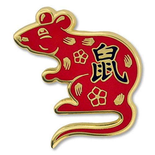 PinMart Chinese Zodiac Year of The Rat New Year Enamel Lapel Pin