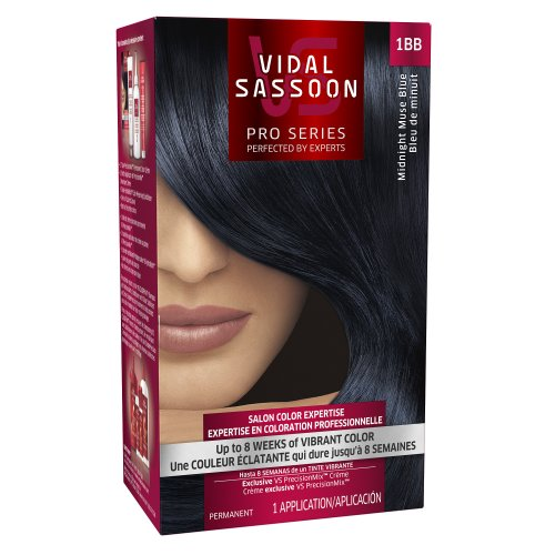 Blue Black Hair Dye - Vidal Sassoon London Luxe 1bb Midnight Muse Blue 1 Kit
