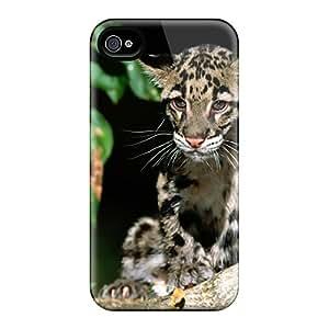 Cute Appearance Cover/tpu JnVSBRO383ZihmL Clouded Leopard Case For Iphone 4/4s