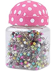 Hlitand Color Bead Needle Bottle Set, 4-38Mm Needle Insert Bottle, Color Bead Needle, 500 Pieces Set, White Dots On Red Background