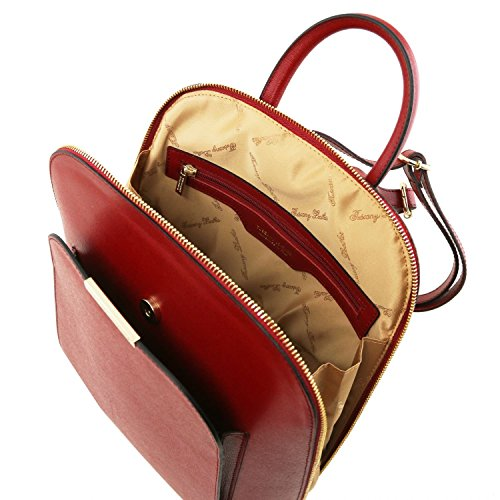 Tuscany Saffiano Rosso TL pelle in Zaino Leather Rosso Bag TL141631 donna aOxrSw6aq