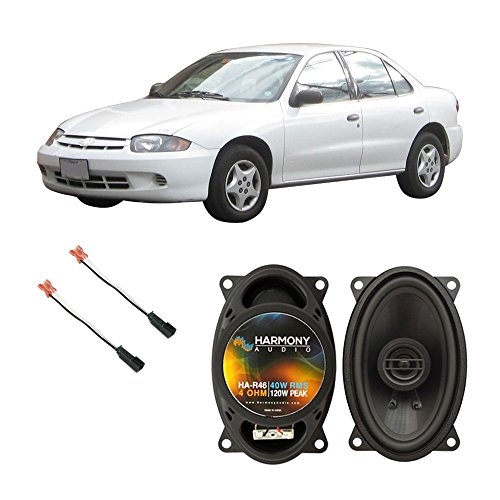 Cavalier Door (Fits Chevy Cavalier 1995-2005 Front Door Factory Replacement Harmony HA-R46 Speakers)