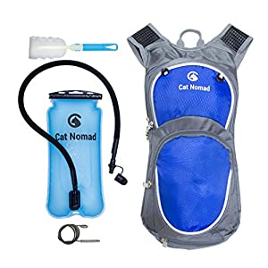 Performance Hydration Pack Insulated Robust Backpack with 3L 100Oz Highest Quality Water Bladder and Cleaning Kit for Hiking Running Cycling Biking Skiing Climbing for Men Women and Kids