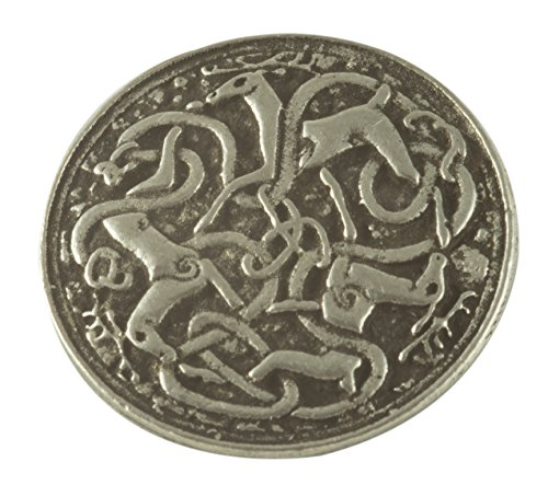 Celtic Hart (Deer or Stag) Pewter Buttons - Card of 4 Buttons 0 .8