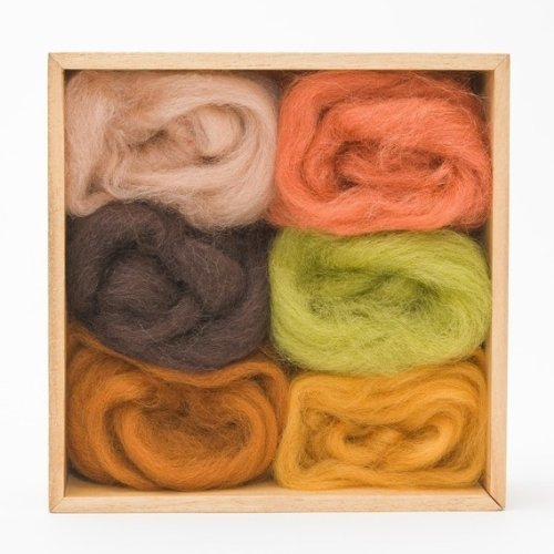 Wool Roving Earth Tones by WoolPets