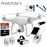 DJI Phantom 4 Quadcopter Drone w/ 4K HD Cam & 3-Axis Gimbal -Air & Ground Bundle
