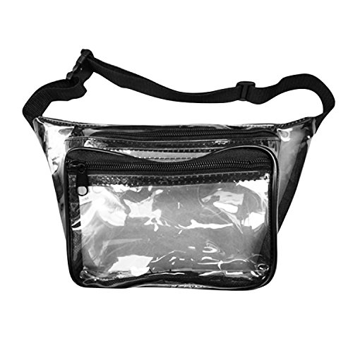 Who's Your Fanny Clear Fanny Pack - Clear Bag, Transparent, Stadium Security Approved 3 Pocket Waist Pack Bag from Packs (3 Pocket Fanny Pack)