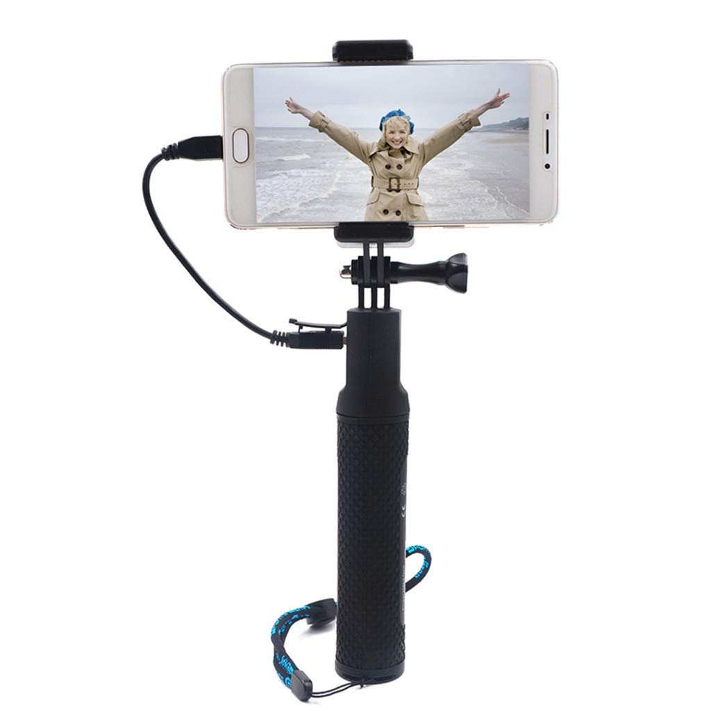 Selfie Stick,for Insta 360 ONE X /DJ OSMO Action 4K Camera Power Handheld Selfie Stick Charger,Camera Mount/Stand,Camera Holder,5200mAh high Capacity by OUBAO (Image #1)