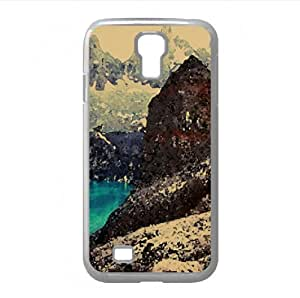 Glacial Mountain Lakes Watercolor style Cover Samsung Galaxy S4 I9500 Case (Mountains Watercolor style Cover Samsung Galaxy S4 I9500 Case)