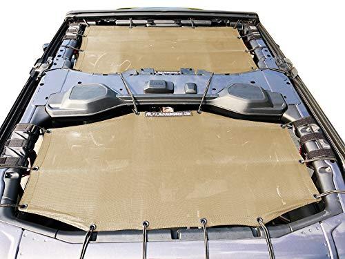 Two Piece Hardtop - Alien Sunshade Jeep Wrangler Sunshade Jeep JL 4 Door 2-Piece Front & Rear Jeep JL Sunshade Top 2018+ (Tan)