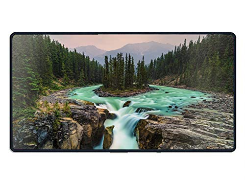 Mouse Pad Jasper National Park Canada Wonderful Scenery Mousepad Non Slip Rubber Mouse pad Gaming Mouse Pad mat (Necklace Fabric Jasper)