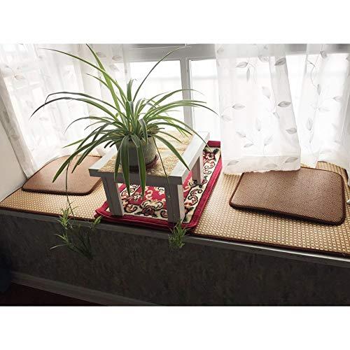Rattan Bodenmatte, Wohnzimmer Schlafzimmer Teetisch Erkerfenster Mat Mat Sommer Krabbeln Decke Teppich Kissen Länge 80-120 cm Sofa Seite (Farbe: H, Größe: 120 * 180cm) 8bayfa