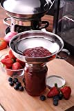 Stainless Steel Wide Mouth Canning Jam Funnel Hopper Filter Kitchen Cooking Tools