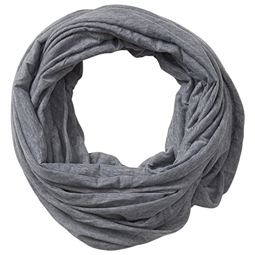 (Tickled Pink Accessorie's Classic Solid Color Soft Lightweight Everyday Infinity Scarf, Gray, 31x31