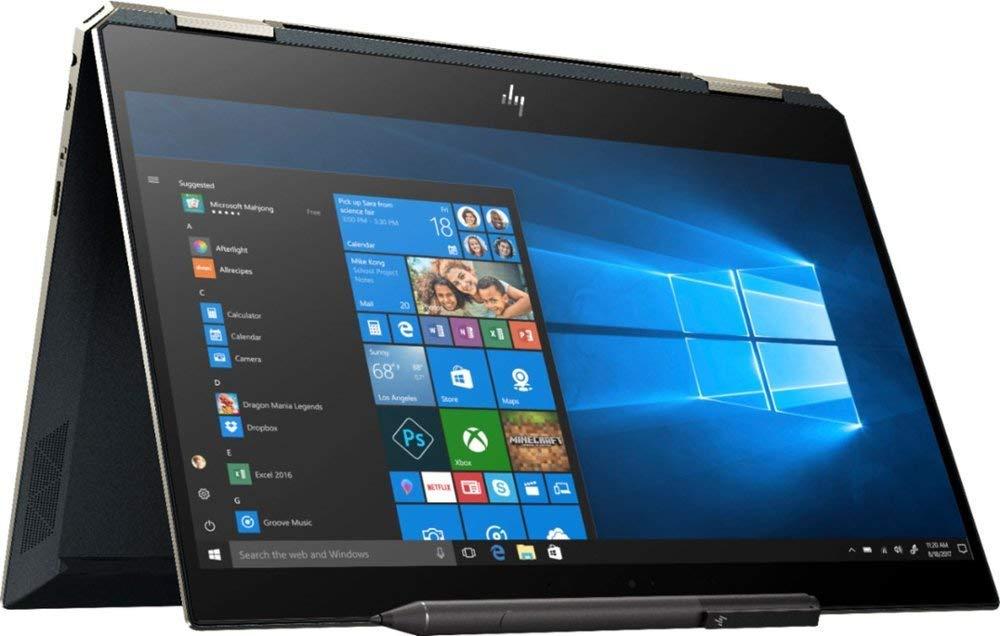 "2019 HP Spectre x360 13t Gem Cut with PRIVACY SCREEN 13.3"" 2 in 1(i7 8565U, FHD IR Cam, HP Pen, 3 Yr McAfee Internet Security, Windows 10 PRO Upgrade,HP Worldwide Waranty(16G+512G SSD, Poseidon Blue)"