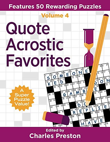 Pdf Humor Quote Acrostic Favorites: Features 50 Rewarding Puzzles (Puzzle Books for Fun)