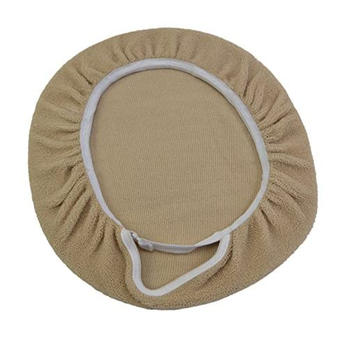 2-piece Bathroom Toilet Accessory Set- Toilet Seat Cover and Toilet Lid Cover (Beige) lovely