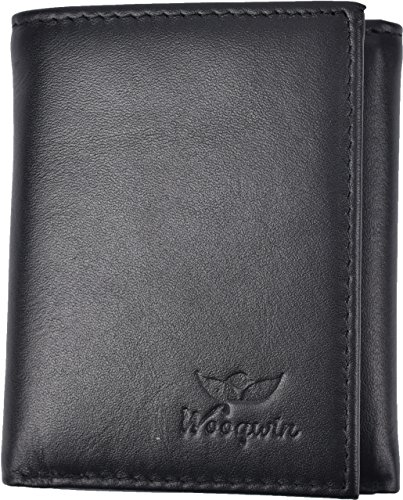 Woogwin Trifold Genuine Leather Flipout