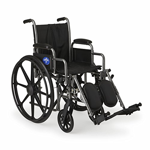 Medline Durable Wheelchair Removable Elevating