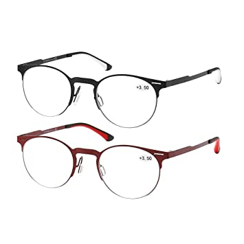 3a1247cfbfd K KENZHOU Reading Glasses 2 Pack for Men Women Computer Readers Glasses  Ultra-Clear