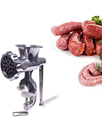 PickUp 1 Piece of New Stainless Steel Kitchen Home Cast Iron Manual Meat Grinder Table Hand Mincer online