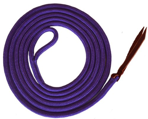 Premium 9/16' Double Braid Polyester Yacht Rope Horse Lead Rope with Eye Spliced Loop (Purple, 12ft.)