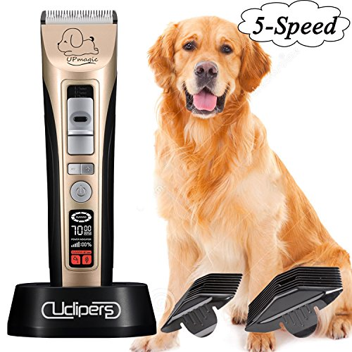 (UclipersProfessinal Electric Hair Trimmer Set for Dogs and Cats,Rechargeable Cordless Pet Grooming Clipper Kit,Heavy Duty Grooming Haircut Machine with Low Noise for Dogs Cats Horse and Other Animal)