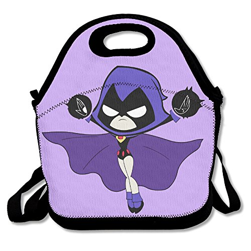 PaTiane Teen Titans Go Raven Funny Lunch Tote Lunch (Raven Teen Titans Belt)