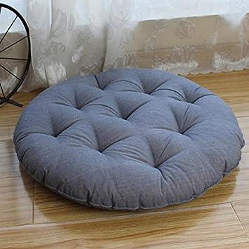 coussin capitonné EFRC Tissu de coton futon tatami tapis coussin rond balcon, baie  coussin capitonné