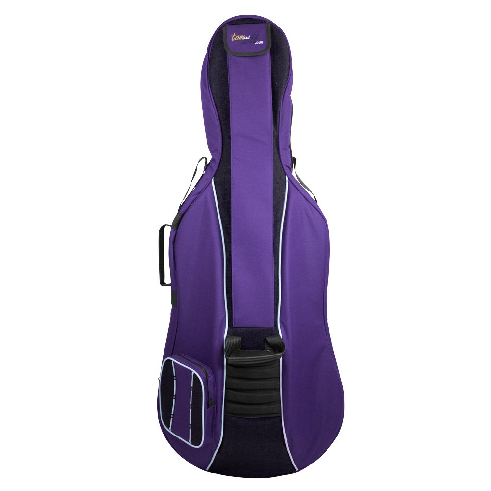 Tom & Will 41VC34-615 Cello Gig Bag, Classic Series in Purple with Black Trim, 3/4 Size
