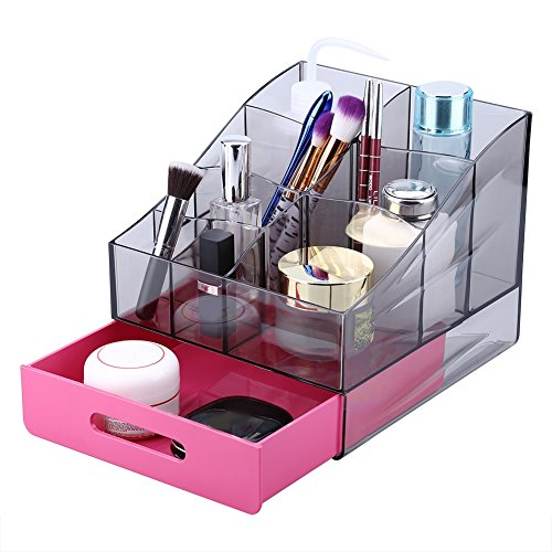 Acrylic Makeup Cosmetic Jewelry Display Storage Organizer Holder Box with Drawer (#3)