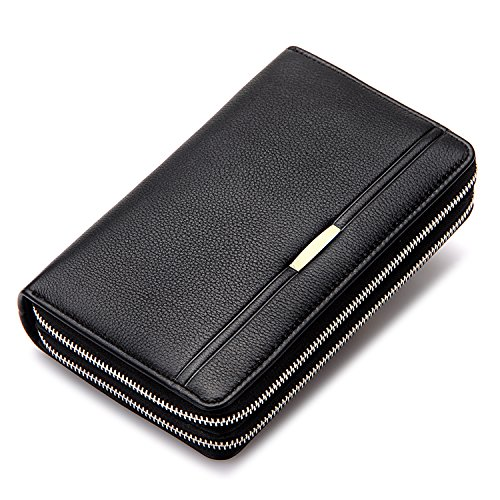 Clutch Wallet Mens Leather Bifold Card Holder for men wallets - 9