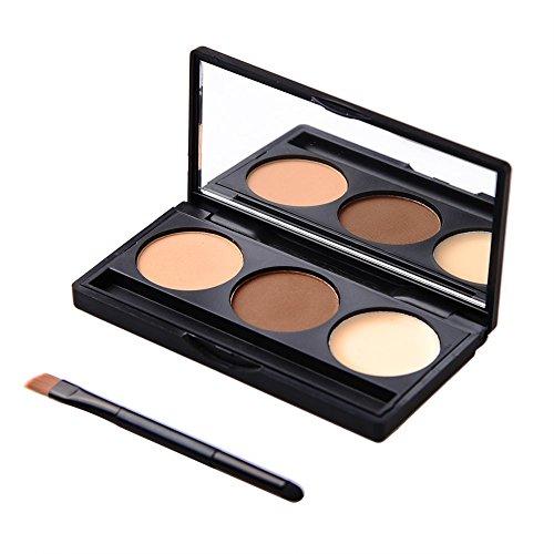 Wasserdichte Augenbrauenpuder Kompaktpuder mit Pinsel Spiegel Augenbrauenstift Make Up Werkzeuge
