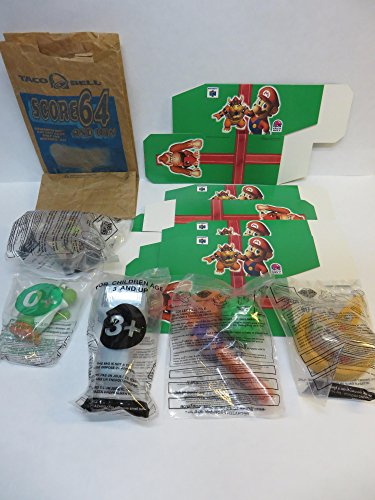 Taco Bell 1997 Nintendo 64 Kids Meal Set , All 5 With Gift Boxes And Original Bag